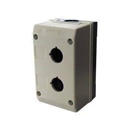 Caixa Plástica TN2-B2 2 Furos para Botão 22mm Cinza Metaltex