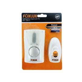 Campainha Eletrônica Sem Fio Bivolt Branco Foxlux