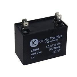 Capacitor Permanente Retangular 10UF 450VAC Onda Positiva
