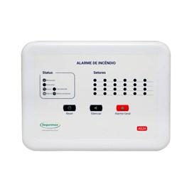 Central de Alarme de Incêndio Convencional 24 Setores 12V com Bateria Segurimax