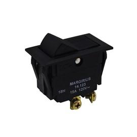 Chave 14123 Interruptor Tecla Unipolar 15A 2 Posições Fixa Margirius