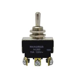 Chave 14203 Interruptor Alavanca Bipolar Reversora 15A 3 Posições Fixa Margirius
