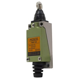 Chave de Fim de Curso FM8122 1NA+1NF com Roldana Frontal Metaltex