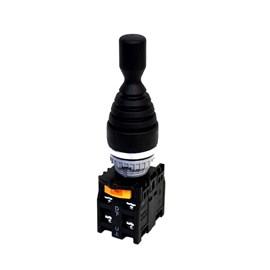 Chave Manipuladora TN2MR4R-4A 22mm IP65 4 Posições com Retorno Metaltex
