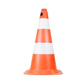 Cone de Sinalização 50cm Laranja e Branco Plastcor