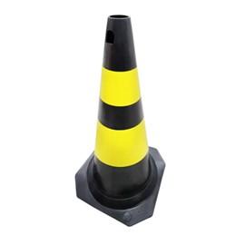 Cone de Sinalização 70cm Amarelo e Preto Plastcor