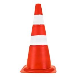 Cone de Sinalização 70cm Laranja e Branco Plastcor