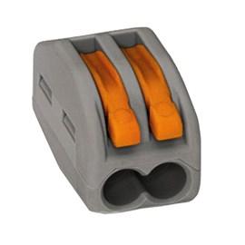 Conector Automático Bipolar 222-412 Cinza 50 Peças Wago