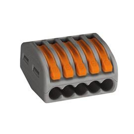 Conector Automático Pentapolar 222-415 Cinza 4 Peças Wago