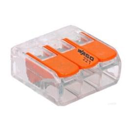 Conector Automático Tripolar 221-613 Transparente 30 Unidades Wago