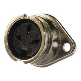 Conector Circular Fêmea 3 vias 5A Metaltex