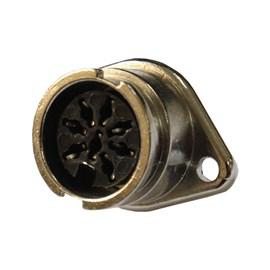 Conector Circular Fêmea 8 vias 5A Metaltex