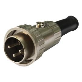 Conector Circular Macho 3 vias 5A Metaltex