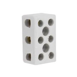 Conector Múltiplo de Porcelana 10mm Tripolar Eletroexpress