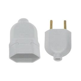 Conjuto Plug de Sobrepor 2P 10A Macho e Tomada Cinza Lumibras