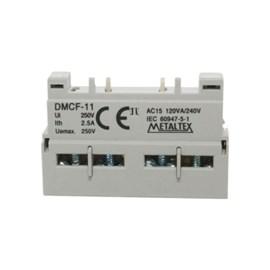 Contato Auxiliar Frontal 1NA+1NF Para DM1 DMCF-11 Metaltex