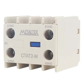 Contato Auxiliar Frontal CTAT2-02M 16A 2NF Metaltex