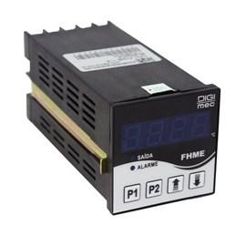 Controlador de Temperatura Digital FHME-116-J-K-PT100 90 - 240VCA Digimec