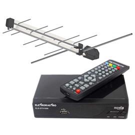 Conversor Digital Eletrorastro com Antena Pro Eletronic