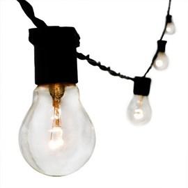 Cordão de Luz 20 Lâmpadas 10 Metros Preto Bivolt Starlux