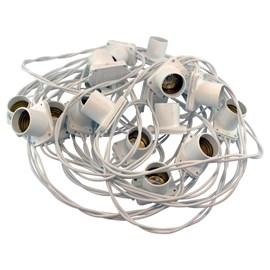 Cordão de Luz 20 Lâmpadas E27 10 Metros Branco Bivolt Starlux