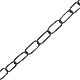 Corrente de Alumínio para Lustre e Pendente Preta Müller