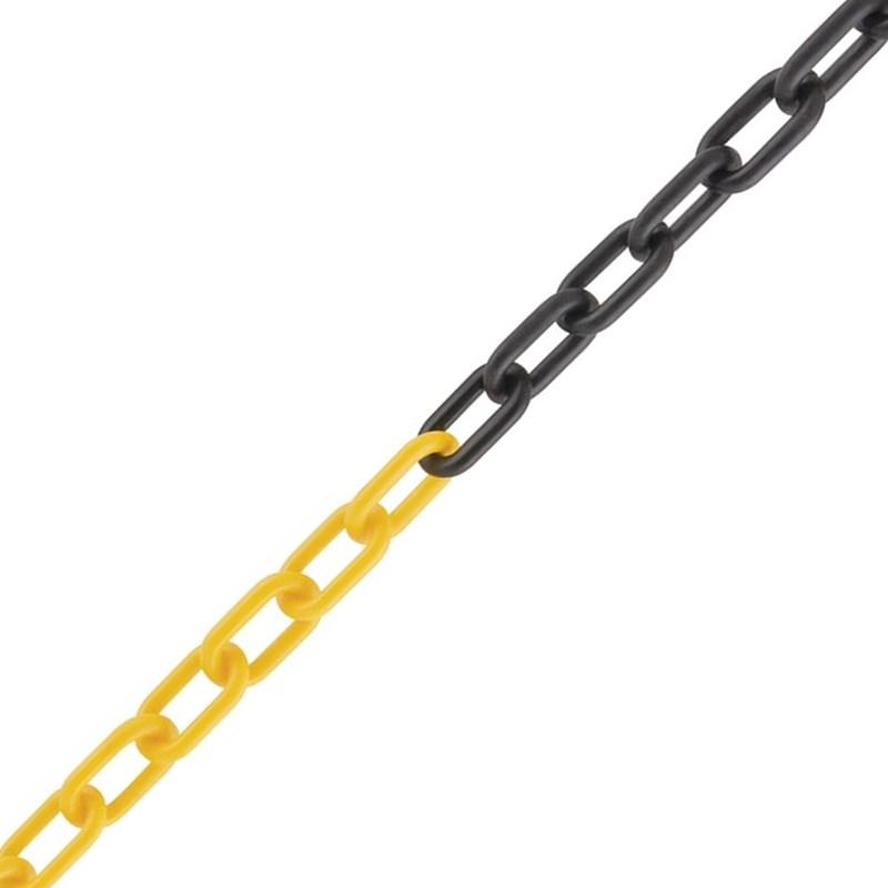 Corrente Plástica Para Isolamento 8mm Amarelo e Preto 10m Worker