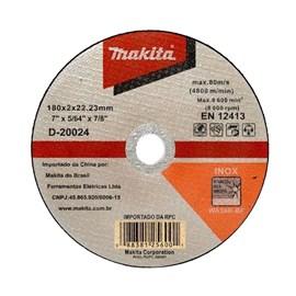 Disco de Corte Aço Inox 180x2x22.23mm Makita