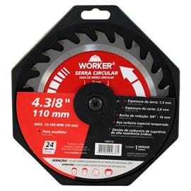 Disco de Serra Widea 110mm 24 Dentes Worker