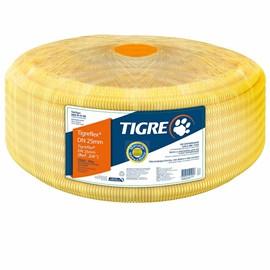 "Eletroduto Corrugado Tigreflex 25mm 3/4"" Amarelo 50m Tigre"