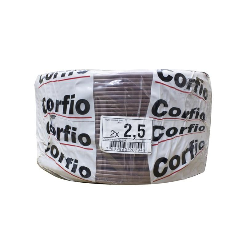 Fio Paralelo 2,50mm 100m Marrom Corfio/Cobrecom