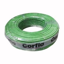 Fio Rígido 10mm 100m Verde 750V Corfio/Cobrecom
