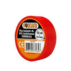 Fita Isolante 10m Vermelho Foxlux