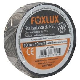 Fita Isolante de PVC 10m Preta Foxlux