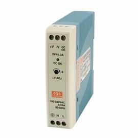 Fonte Chaveada 24VCC 1A MDR-20-24 20W para Trilho DIN Metaltex