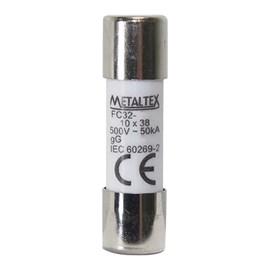 Fusível Cartucho 10A 500v Metaltex