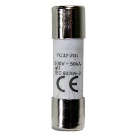 Fusível Cartucho 14,3x51mm 63A 500V Ultra Rápido Metaltex