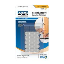 Gancho Adesivo Cristal 200g Transparente Tek Bond
