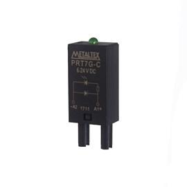 Indicador Luminoso PRT7G-C 6-24VCC Luz Verde Metaltex