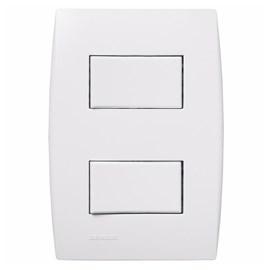 Interruptor 10A 4x2 1 Tecla Simples e 1 Paralela Branco Ilus Iriel