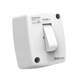 Interruptor Paralelo de Sobrepor 10A Branco Standard Enerbras
