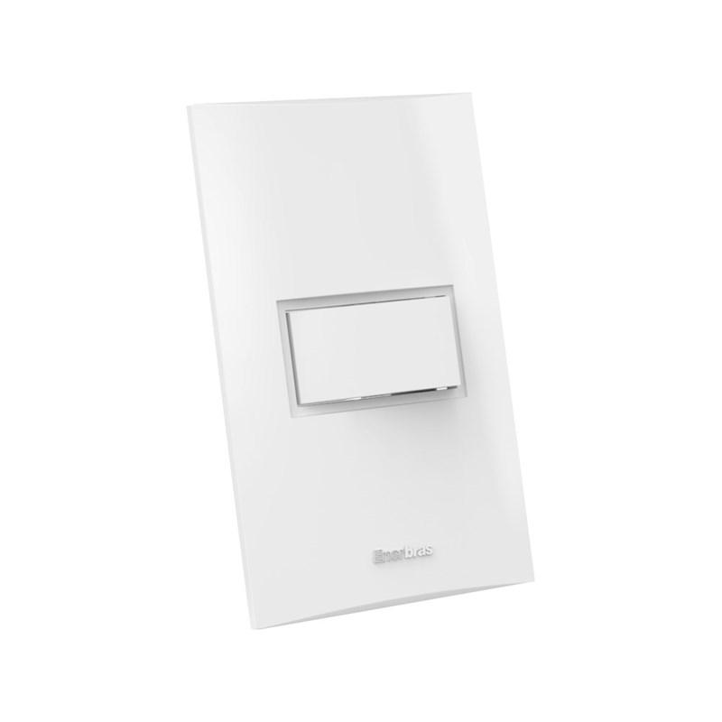 Interruptor Simples 10A 4X2 1 Tecla Branco Beleze Enerbras
