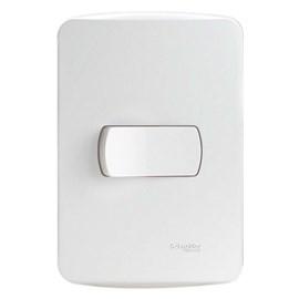 Interruptor Simples 10A 4X2 1 Tecla Branco Miluz Schneider