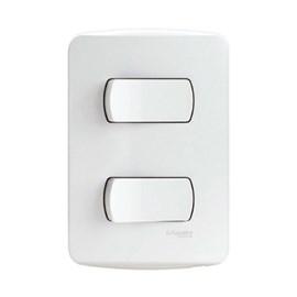 Interruptor Simples 10A 4x2 2 Teclas Branco Miluz Schneider
