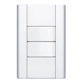 Interruptor Simples 16A 4X2 2 Teclas Branco Modulare Fame