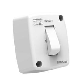 Interruptor Simples de Sobrepor 10A Branco Stardard Enerbras