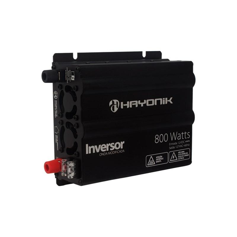Inversor de Onda Modificada 800W 12VDC/127V USB Hayonik