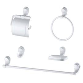 Kit Acessórios Banheiro 05 Peças Branco Lorenzetti