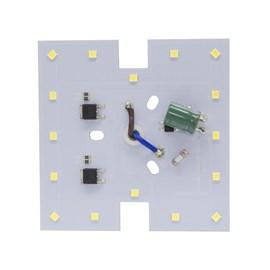 Kit Placa LED Quadrado 8cm 20W Luz Branco Frio 127V Bronzearte