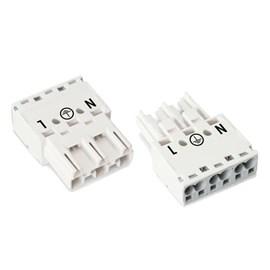 Kit Plug Universal Macho e Fêmea 3P Wago